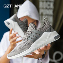 Popular hot sale Men new Spring Breathable Mesh male fashion causal shoes for men lace-up Rubber Ultra Light Weight shoe