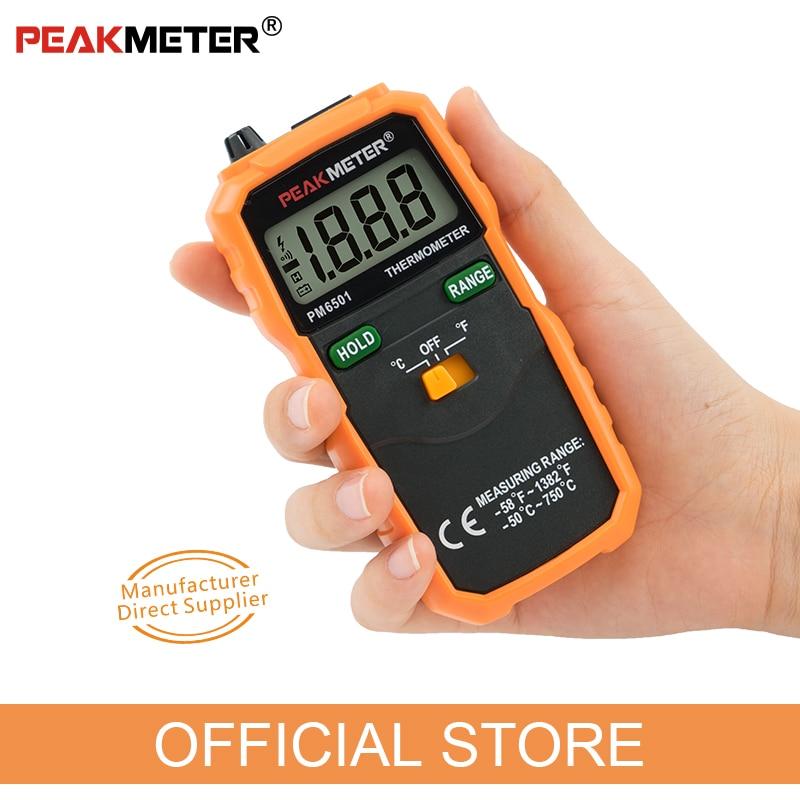 Hivatalos PEAKMETER PM6501 LCD kijelzős digitális hőmérő, K - Mérőműszerek - Fénykép 3
