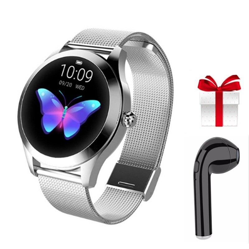 KW10 smart watch earphone set smart watch men 2019 reloj inteligente hombre gold watch ip68 waterproof