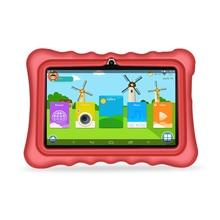 Yuntab 7 дюймов 4 ядра Планшеты ПК нагрузки iwawa малыш программное обеспечение, 3D-Game Bluetooth Детские планшеты с шикарным Стенд случае 2500 мАч батареи