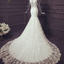 HIRE LNYER NAJOWPJG Backless Mermaid Wedding Dress