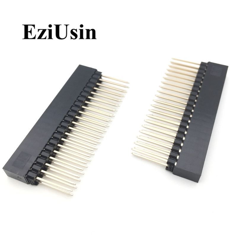 2.54mm Double Row Female Long Pin 12.2mm Industrial Motherboard Interface 2*20p Pin Header Socket PCB Connector Industrial