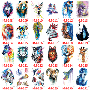 Image 5 - 1000 Pieces Wholesale Waterproof Temporary Tattoo Sticker 3D Decal Flower Owl Eagle Body Art Tattoo Sticker Sexy Makeup Products