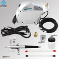 OPHIR Dual Action Airbrush Kit w/ 110V,220V Mini Elephant Air Compressor for Model Hobby Temporary Tattoo Car Paint _AC092+AC074