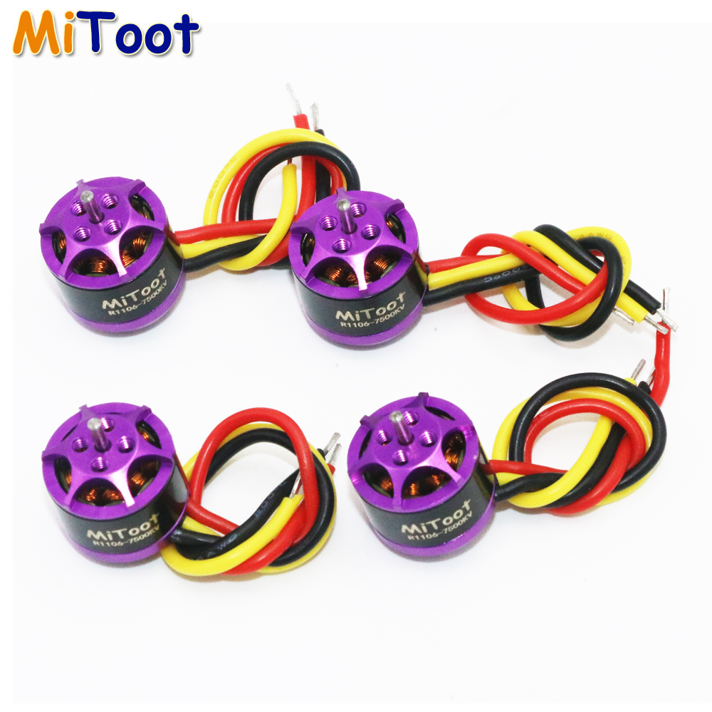 Register shipping 4pcs/lot Mitoot R1106 7500KV Metal Brushless Motor Kit for 60 70 80 90 Micro FPV Racing Drone Quadcopter mitsubishi 100% mds r v1 80 mds r v1 80