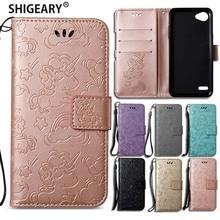 Shigeary case sFor Fundas LG Q6 Case Wallet magnet flip Cover For LG Q 6 Q6 Coqu
