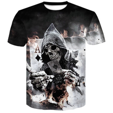2019 Newest Mens Summer clown Poker Print O-Neck Short Sleeve T-shirt 3D T Shirt Casual Breathable Men tshirt Plus-size 4XL tops цены