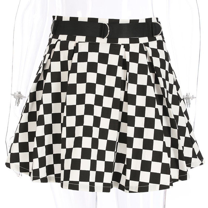 Disweet Pleated Plaid Skirts Womens High Waisted Checkered Skirt Harajuku Dancing Korean Style Sweat Short Mini Skirts Female 10