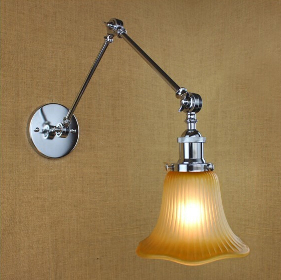RH Loft Style Edison Industrial Lamp Vintage Wall Light Fixtures Wall Sconce Arandela Lampara De Pared,E27*1 Bulb Included купить