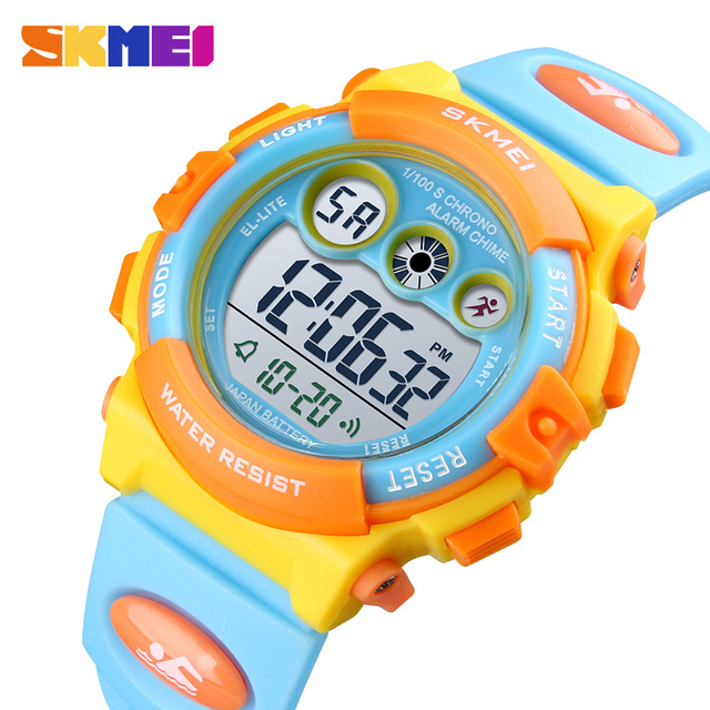 SKMEI Brand Sport Children Watch Waterproof LED Digital Kids Watches Luxury Electronic Watch for Kids Children Boys Girls Gifts 2