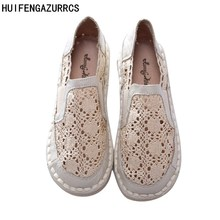 Hot selling,Summer ventilation crochet lace shoes,Women art hollow shoes,Mesh flat shoes,Slip-on lazy shoes,2 colors