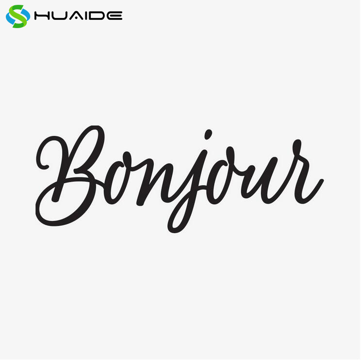 Saying Bonjour French Wall Stickers Home Deocr hello Wall Art Door Decoration Glass Wall Decals Store Room Decor A324