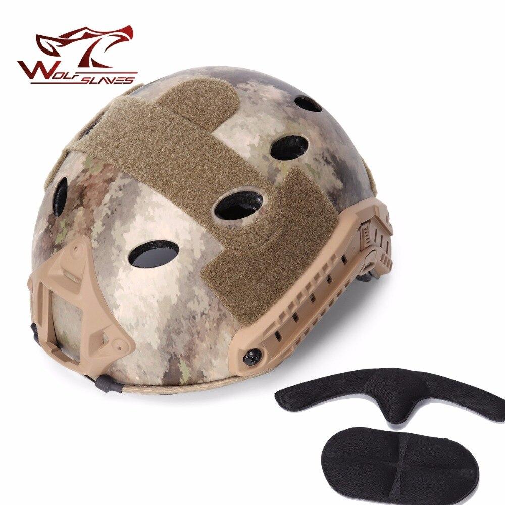 Prix pour Hot! Emerson RAPIDE Capacete airsoft Casque PJ Type ET avec Protection Goggle casques Militaire Airsoft casque livraison gratuite