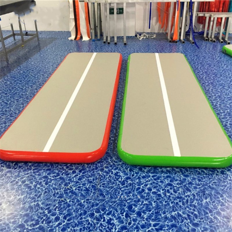 Free Shipping 2 pieces of 8*2m sport using air track mat with logo,  Air Track Gym Mat Inflatable Airtrack For Saleand 2 pumps