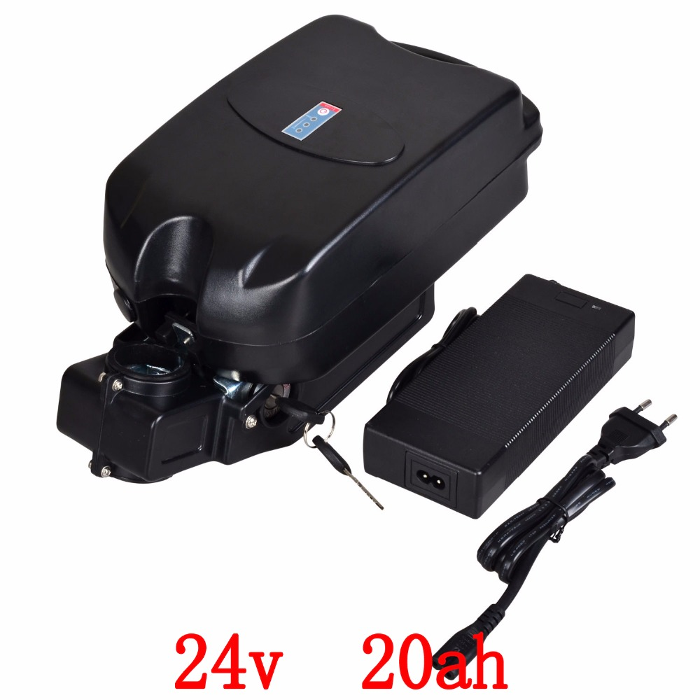 24V 250W 350W 500W battery 24V 20AH lithium battery 24v 20ah electric bicycle battery with 30A
