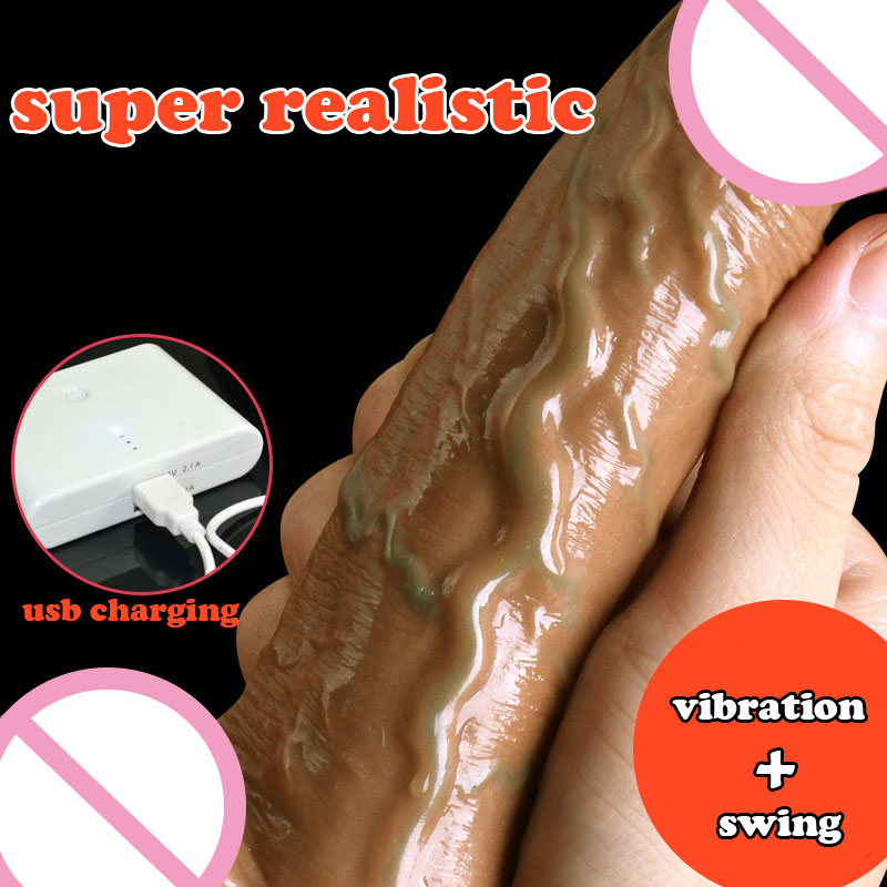 Soft silicone dildo realistic dildo suction cup dildo vibrator swing huge dildos for women male artificial penis large dick