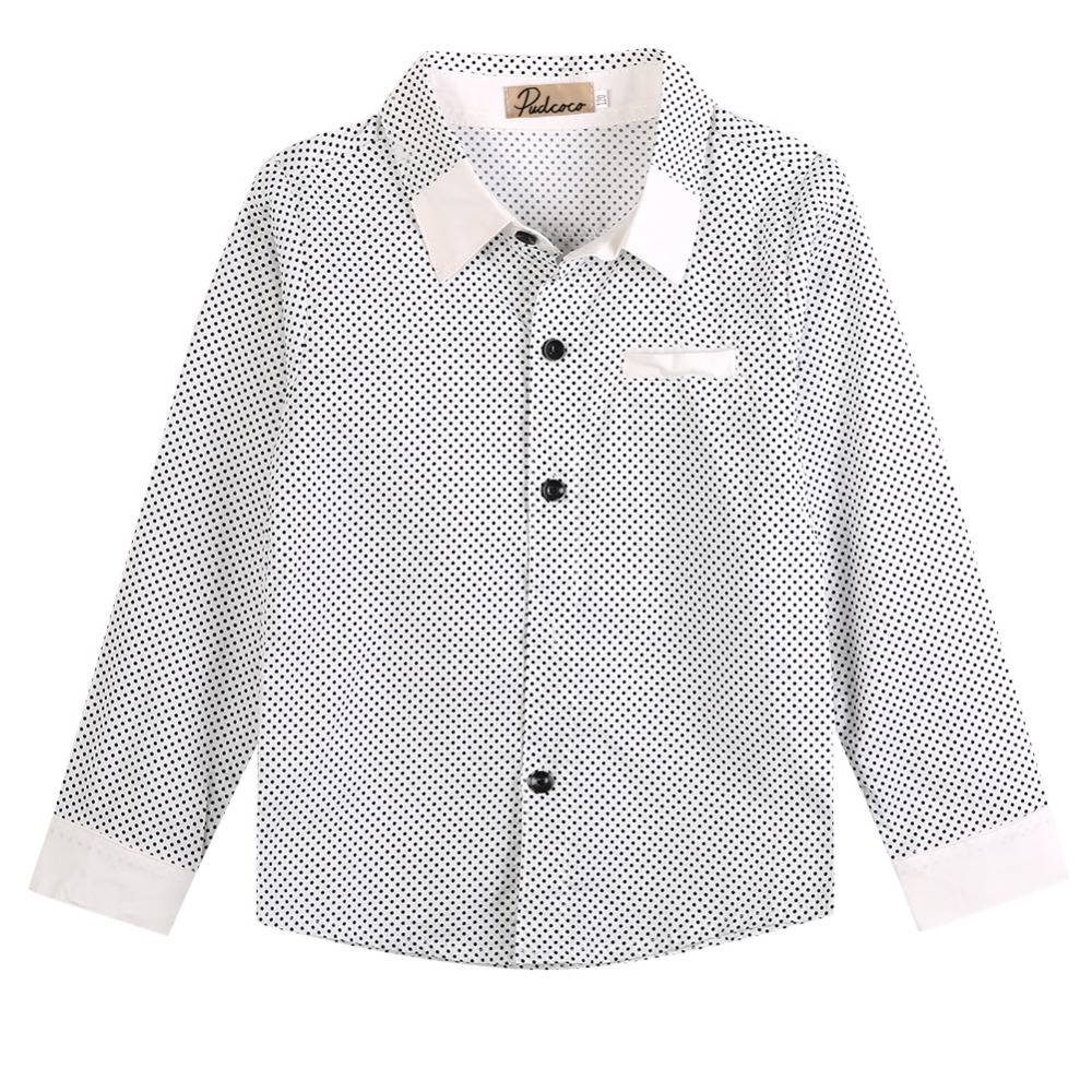 Shirt Tops Long-Sleeved Toddler Baby-Boys Kids Fashion Fit Lapel Infant Formal 3-8Y Party