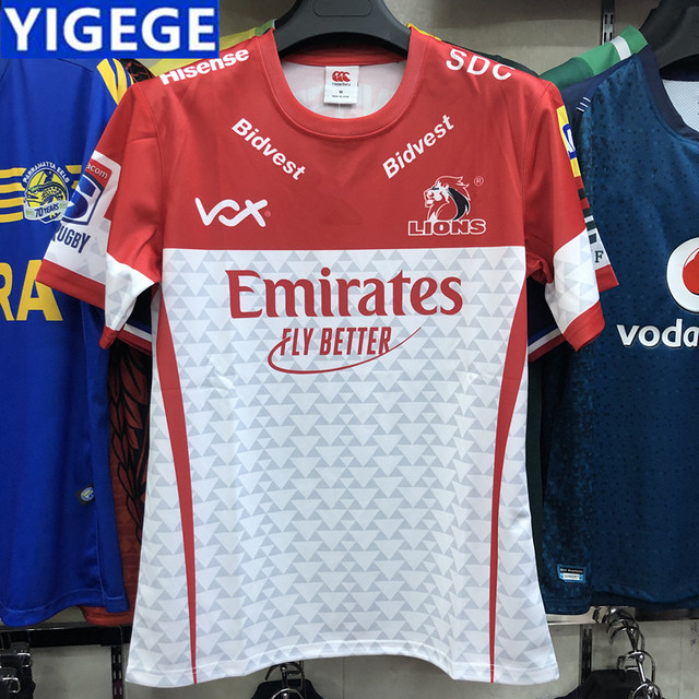 143679ca US $18.17 21% OFF|YIGEGE 2019 New Zealand Super Rugby 2019 New High quality  NZ Golden Lions rugby Shirts Golden Lions rugby T shirts size S 3XL -in ...