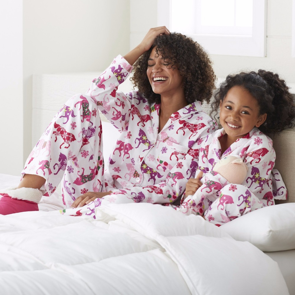 Christmas Family Look Pajamas Family Set Mommy and Me Matching Outfits Mother Daughter Clothes Family Pajamas Clothing Sets YD