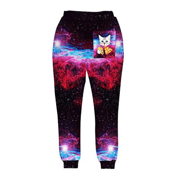 Новинка, модные спортивные штаны, штаны для бега, 3D графический принт, галактика, космос, спортивные штаны для мужчин/wo, мужские брюки в стиле хип-хоп - Цвет: A4