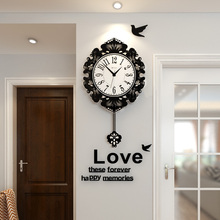 MEISD Flower Swingable Vintage Antique Style Large Wall Clock Modern Design Silent Hanging Clocks Sticker Free Shipping