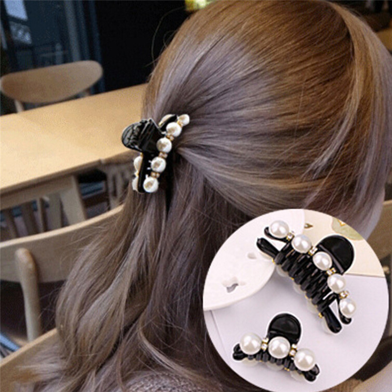S/M Imitation Pearl Hairpins Hair Clip Hair Crab Plastic Hair Claws For Women