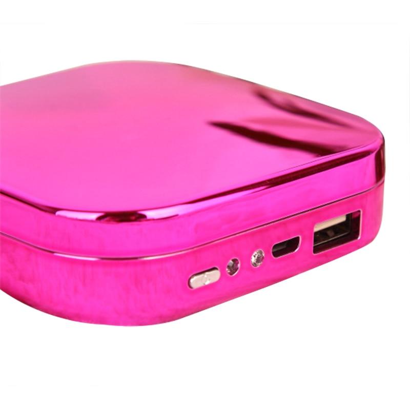 Image 5 - Nowy 10000mAh lustro do makijażu Power Bank do Xiaomi Redmi iPhone Poverbank przenośna ładowarka do telefonu Powerbank zewnętrzny zestaw akumulatorówPowerbank   -