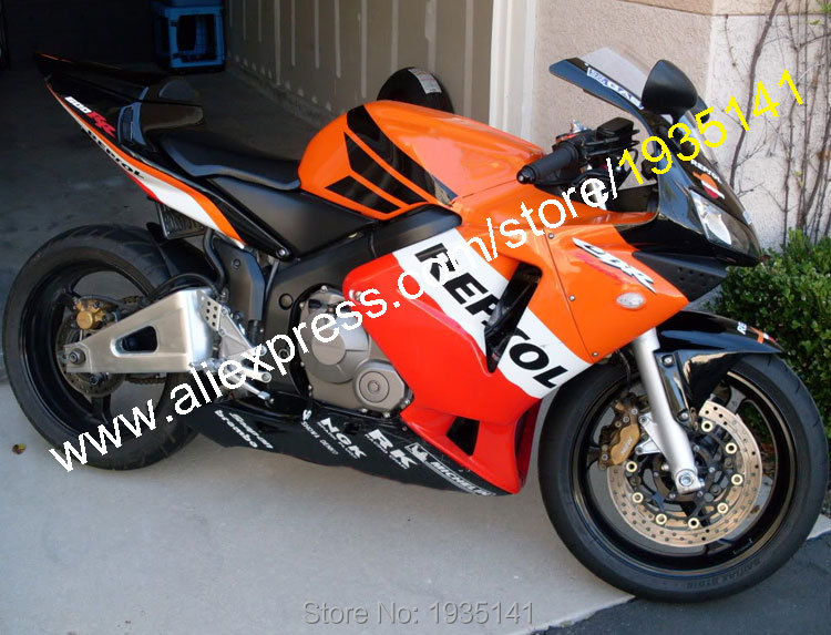 Hot Sales,Repsol Body Kit For Honda CBR600RR F5 2003 2004 CBR 600 RR 600RR 03 04 Sportbike ABS Fairing Kit (Injection molding) hot sales for honda cbr600rr 2003 2004 cbr 600rr 03 04 f5 cbr 600 rr blue black motorcycle cowl fairing kit injection molding