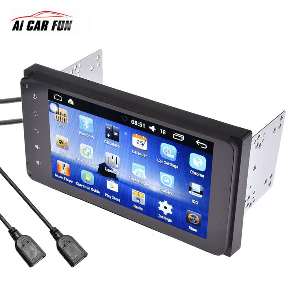 7 дюймов Android 6,0 системы Full HD 1080p MP5 плеер с gps Navigaton Wi Fi Bluetooth USB 2 Din Мультимедиа DVD для Toyota