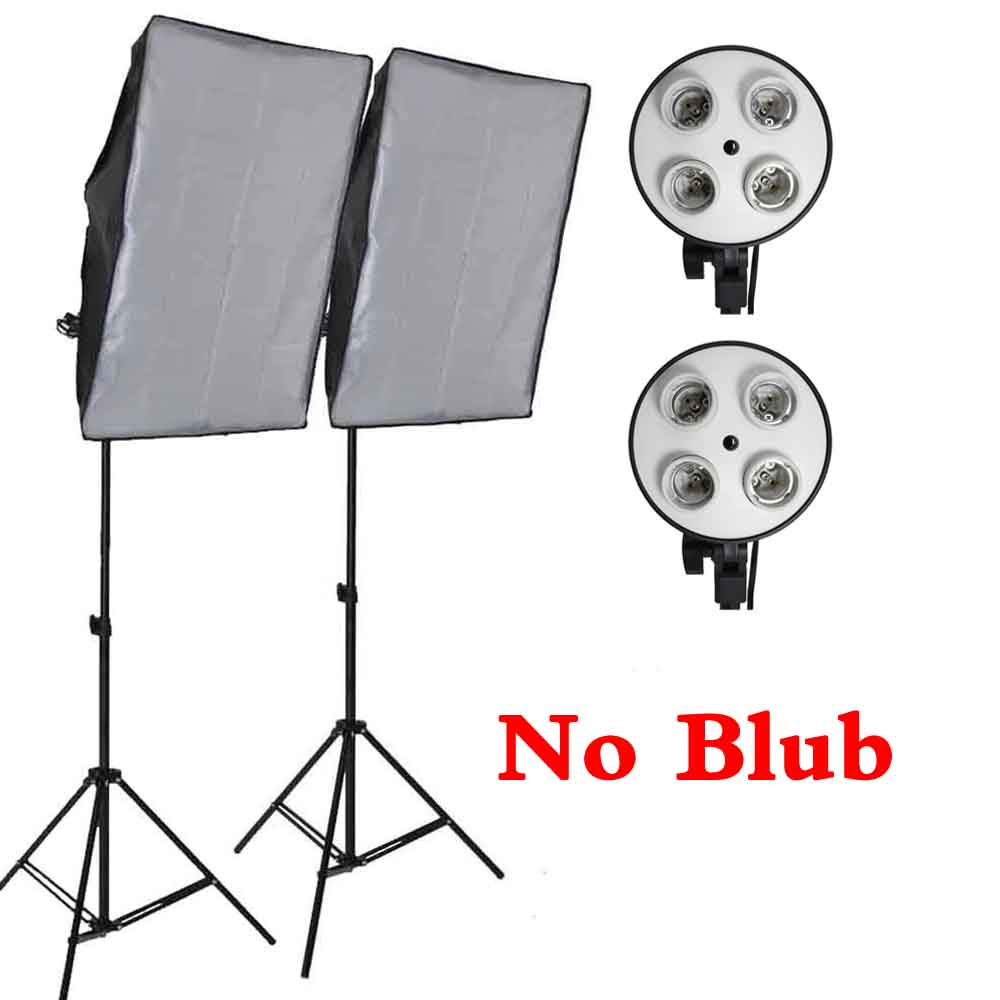Professional 50*70 см фотографии фото студия софтбокс 4 гнездо светодио дный светодиодное освещение комплект осветительная стойка 2 м Light Box оборудов...