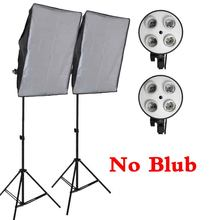 Professional 50*70CM Photography Photo Studio Softbox 4 Socket Lamp Led Lighting Kit 2M Light Stand Light Box Equipment Diffuser(China)