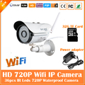 720 p cámara bullet ip wifi 1.0mp motion detección impermeable al aire libre mini cctv de vigilancia de seguridad cctv blanco freeshipping