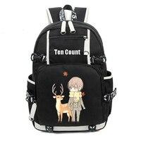 Ten Count 10 Count Rihito Takarai Tadaomi Shirotani School Bags Shoulder Bag for Teenagers Laptop Backpack Large Travel Rucksack