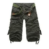 Men S Short 2017 Fashion Summer Calf Length Men Shorts Cotton Casual Mens Military Style Army