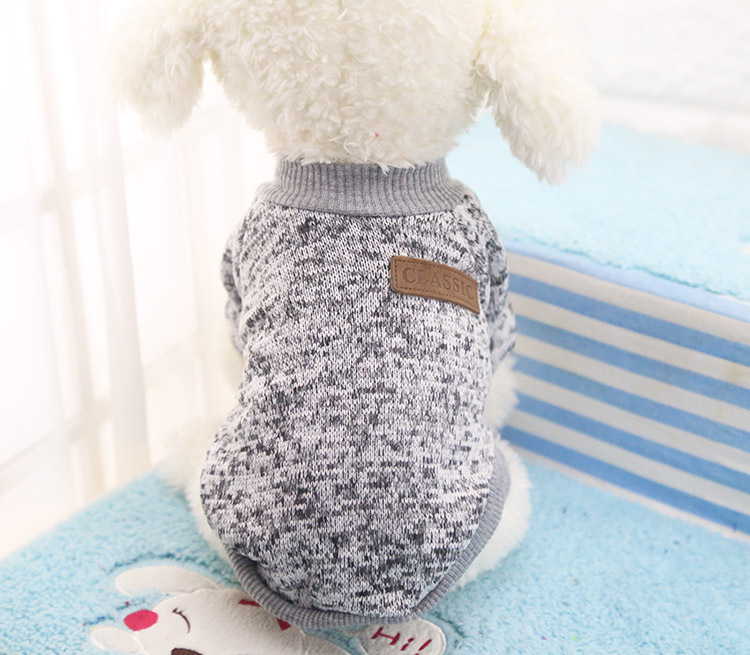 Classic Warm Dog Clothes Puppy Pet Cat Jacket Coat Winter Fashion Soft Sweater Clothing For Small Dogs Chihuahua XS-2XL 25S1 10