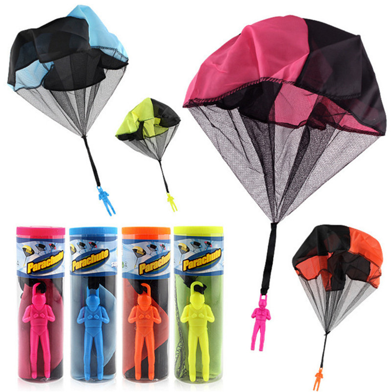 Hand Throwing Soldier Paratrooper Style Parachute Toy Mini Parachute Toy Outdoor Sports Children Educational Toys Birthday Gift