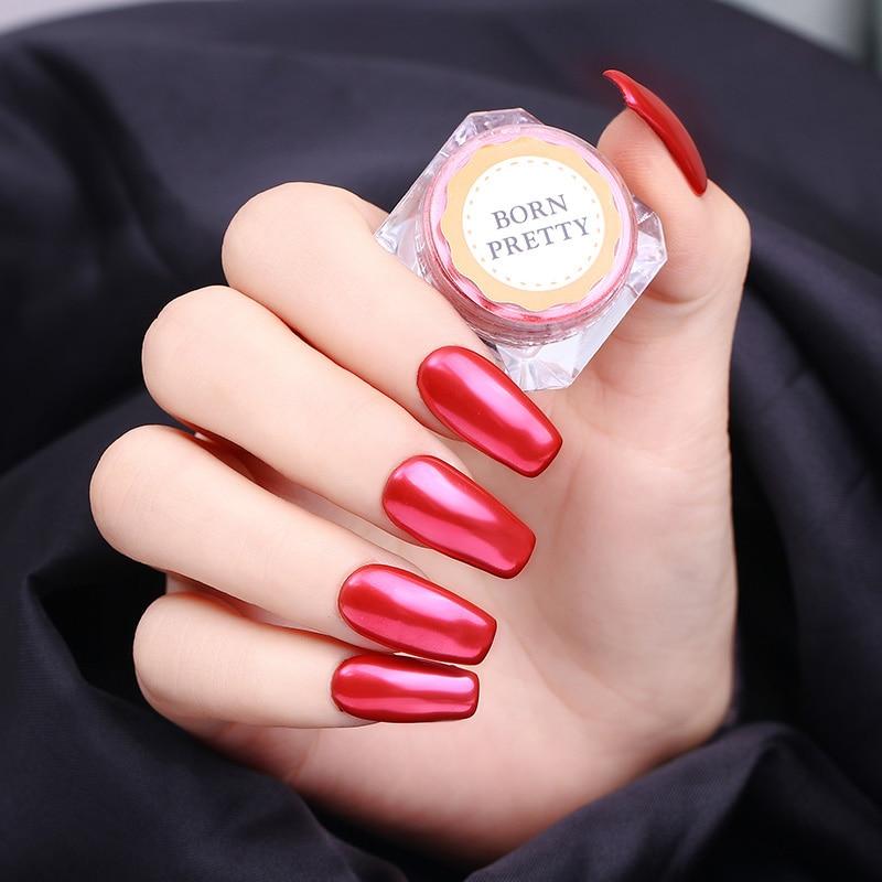 born pretty 1pc red mirror glitter