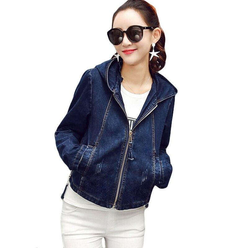 2018 New Denim   Jacket   Women Jeans   Basic     Jacket   Coat Hooded Outwear Slim Short Warm Overcoats Jeans Denim Female   Jackets   CM118