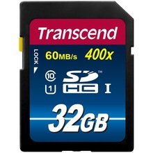 100% Оригинал Transcend SD Card 16 ГБ 32 ГБ 64 ГБ 400X Class 10 UHS-I Карты Памяти Flash для HD DSLR GPS Drive рекордер