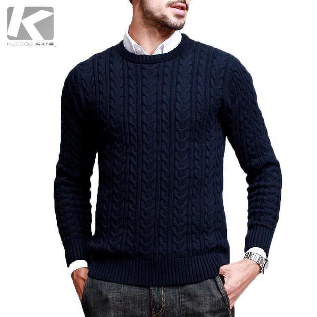 Hombre suéter de lana, para hombre casual jerseys sweater, wave cut patrón  suéter AZ