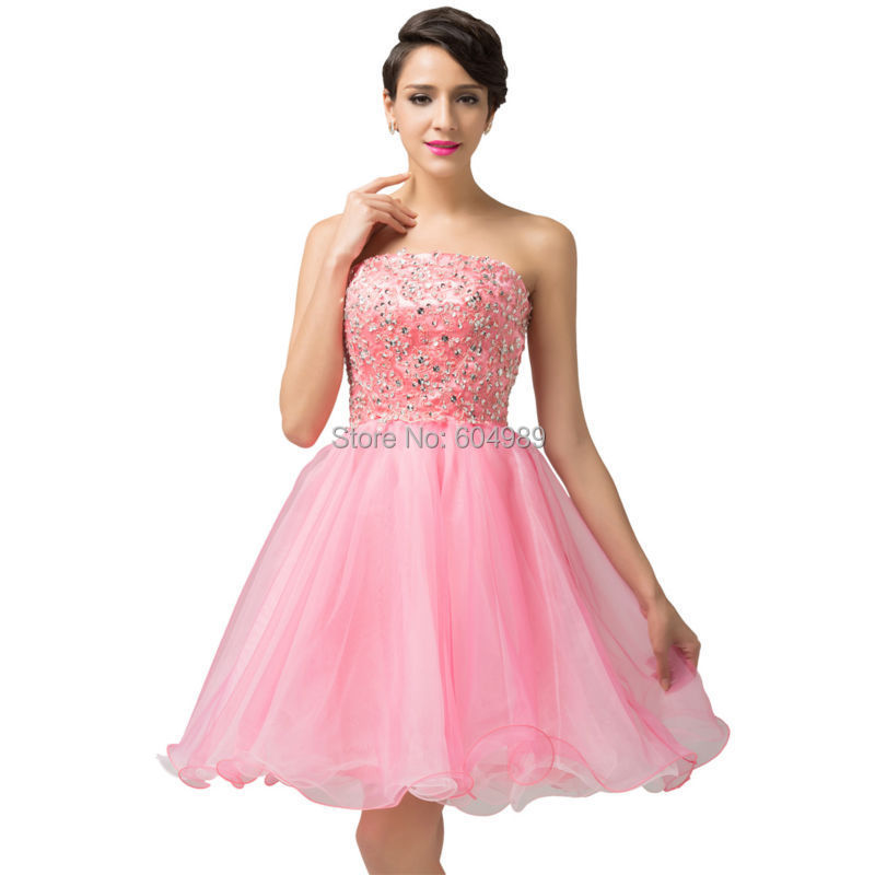 Princesa 2015 de color rosa Girls Sweetheart Short Prom bola vestido ...
