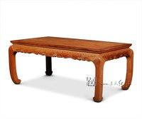 Чертежный стол с облаком моделей прокрутки китайский классический низкий вино Таблица Бирма палисандр ужин стол Гостиная мебели чехол