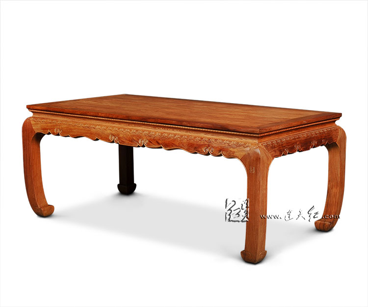 Drawing Table with Cloud Scroll Patterns Chinese Classical Low Wine Table Burma Rosewood Dinner Desk Living Room Furniture Case