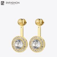 Enfashion Play Series Dazzling Crystal Screw Dangle Earrings Gold color Drop Earrings For Women Earings DIY Jewelry 70058003