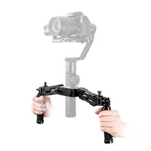 Z-Axis 5 Axis Spring Dual Handle Grip Handheld Handlebar Kit for Zhiyun Crane Plus/Crane 2 V2/Feiyu a1000/a2000 Moza Air Gimbal(China)