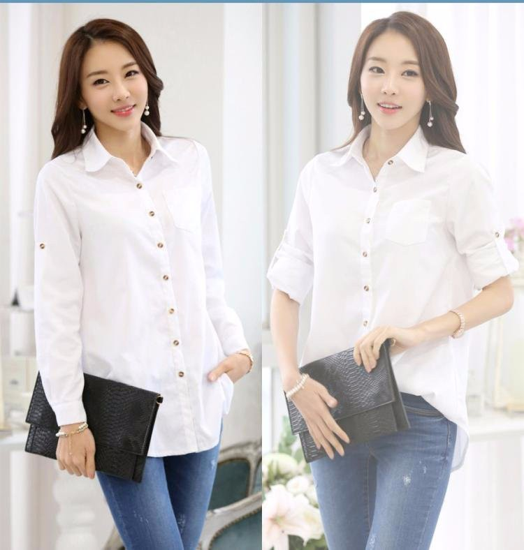HTB1pfwCLXXXXXXnXFXXq6xXFXXX3 - Casual Blouse Long Sleeve Femininas Ladies Work Wear Tops Shirt