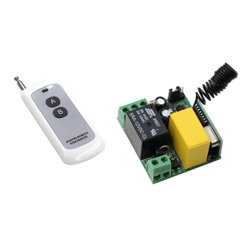 AC 220V 1CH Wireless Relay Remote Control Switch Radio Light Switch 220 V Switch With Remote Transmitter Micro Receiver