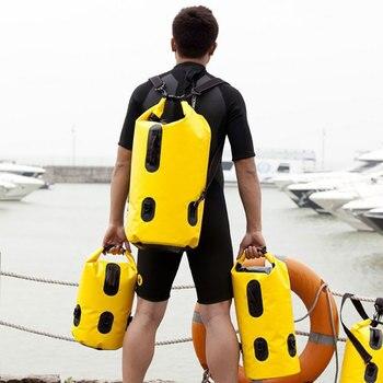 Odkryty piesze wycieczki turystyczne worki wodoodporne pojedyncze podwójne ramię Wodoodporna torba Rafting torba 20 L 30 L 50 L
