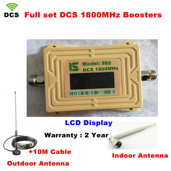 2018 DCS 1800MHZ GSM 1800 2g 4g LTE Cell Phone Signal Repeater Booster Mobile Phone Signal Amplifier with Indoor Outdoor Antenna