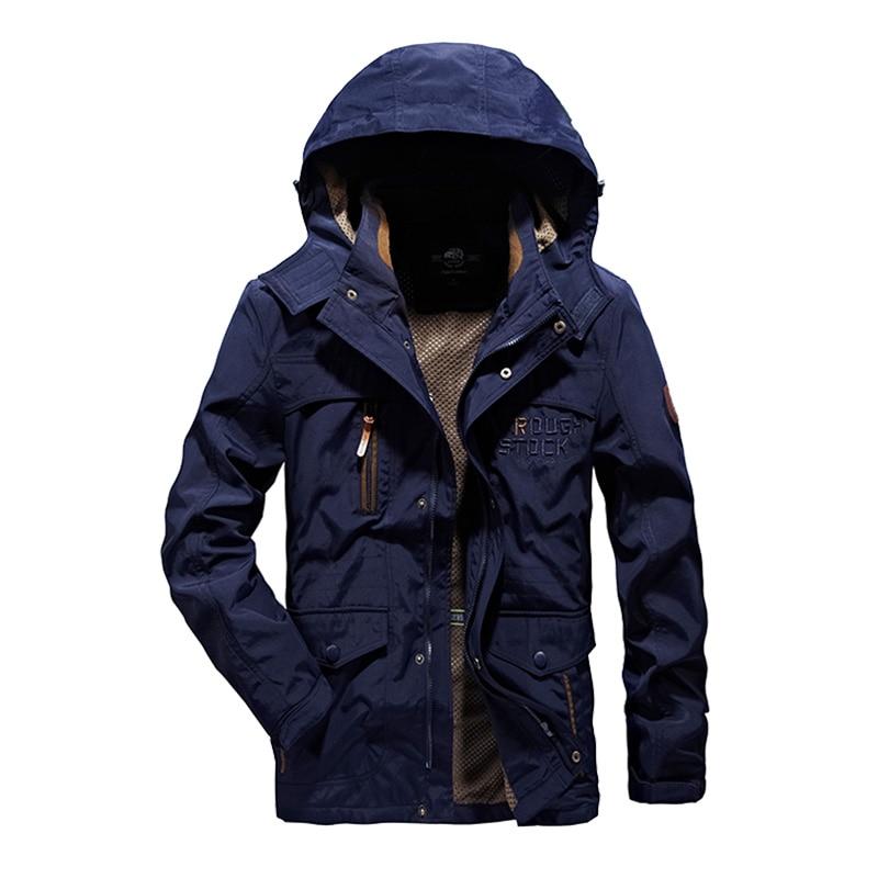 2017 Windbreaker jacket men tactical military jacket casaco masculino high quality waterproof men's outwear Spring hooded M-6XL